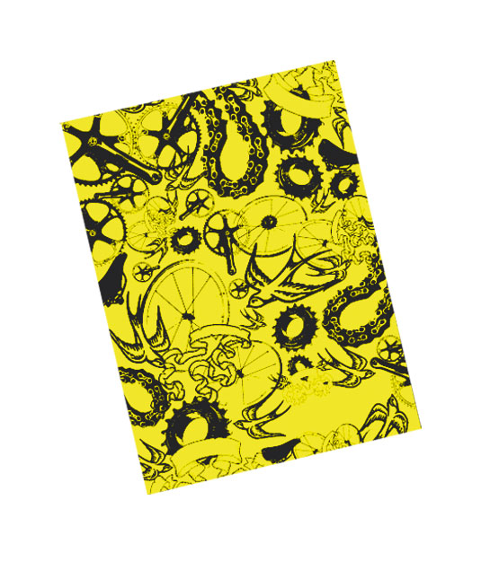 Bandana Multiuso Rock-Art  GIALLO FLUO