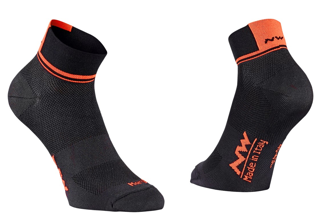 Calze Ciclismo Northwave Logo 2 Woman Socks BLACK-LOBSTER ORANGE