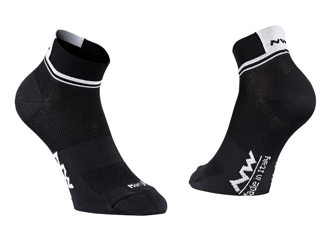 Calze Ciclismo Northwave Logo 2 Woman Socks BLACK-WHITE