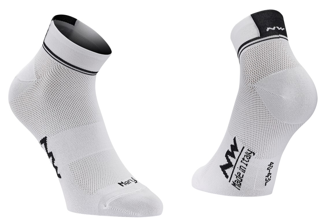 Calze Ciclismo Northwave Logo 2 Woman Socks WHITE-BLACK