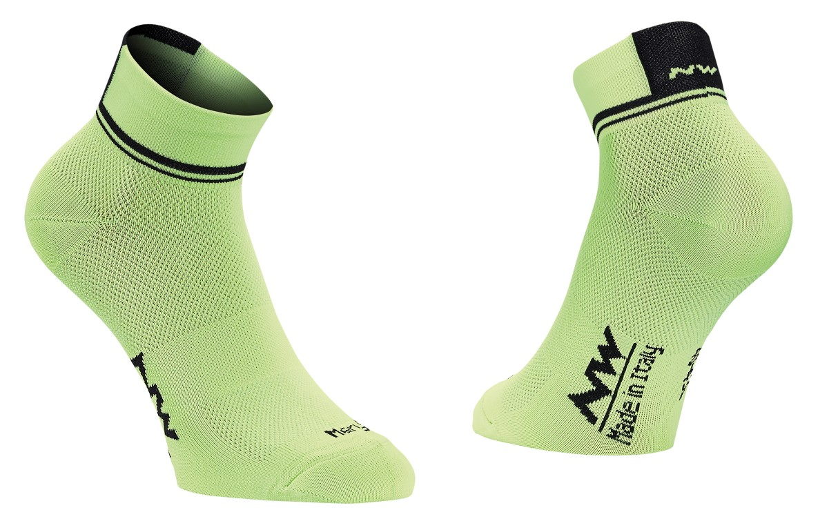 Calze Ciclismo Northwave Logo 2 Woman Socks YELLOW FLUO-BLACK