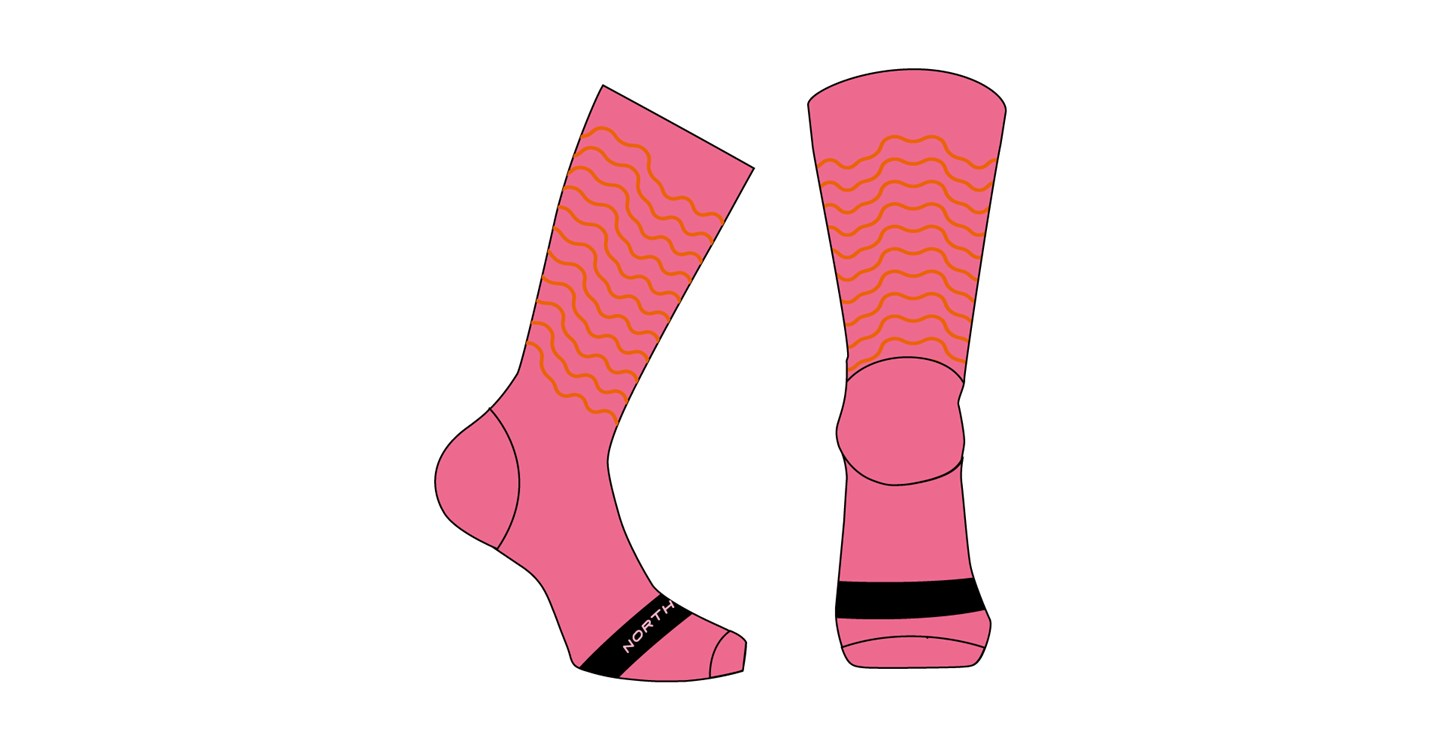 Calze Ciclismo Northwave Switch Wmn Socks PINK-BLACK