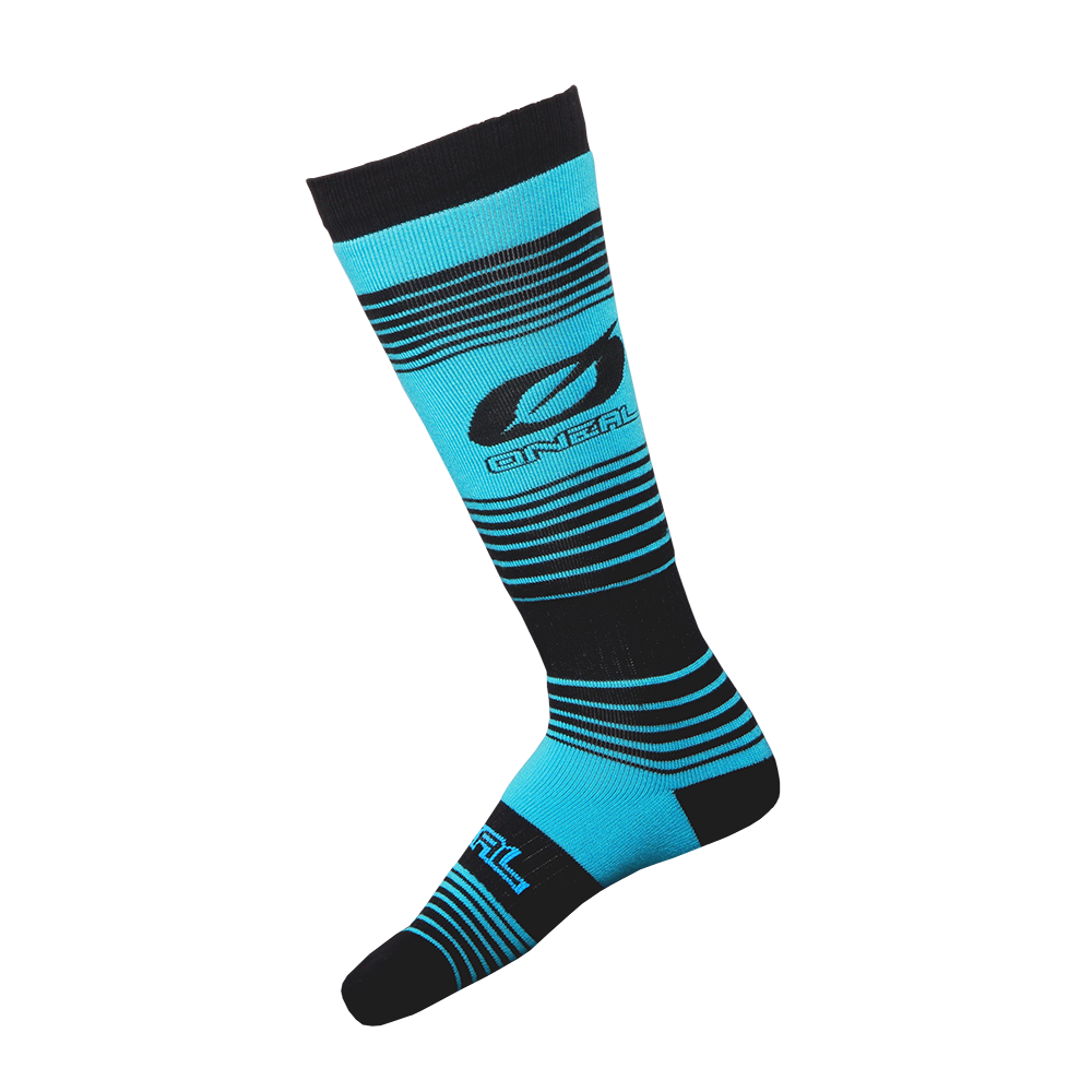 Calze O`Neal PRO MX SOCK Stripes UNICA TEAL/BLACK