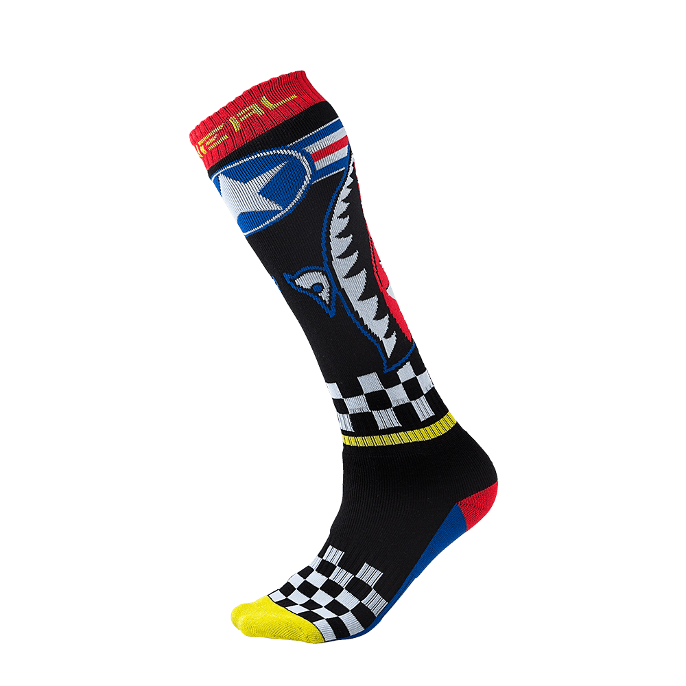 Calze O`Neal PRO MX SOCK Wingman UNICA BLACK/BLUE/RED/YELLOW