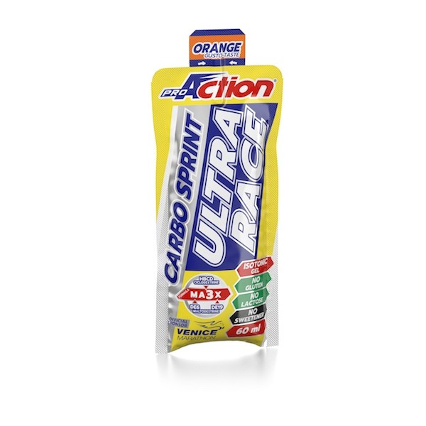 ProAction CARBO SPRINT ULTRA RACE Arancia - Stickpack 60 ml.