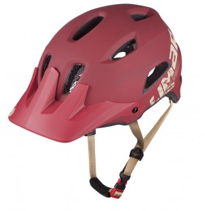 Casco Limar 848DR Free Ride - T.L (59-62cm) rosso scuro opaco