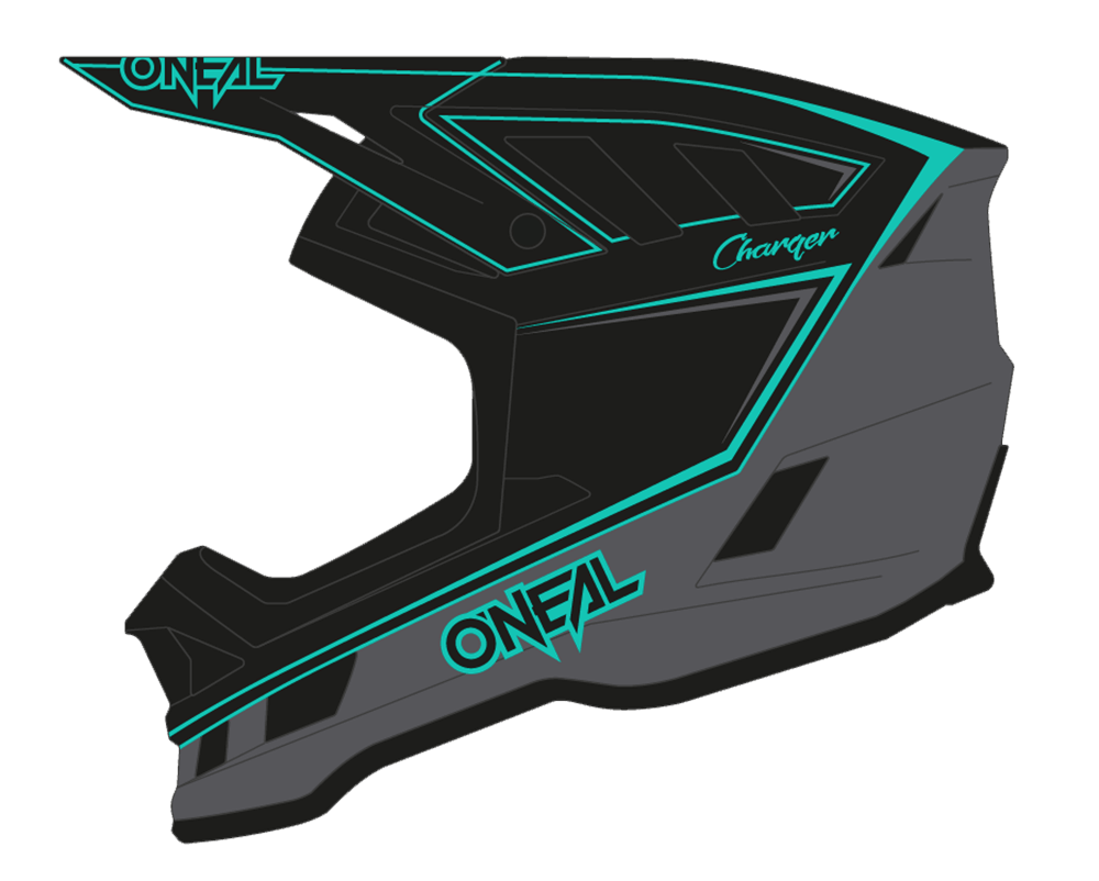 Casco MTB O'Neal BLADE Charger BLACK/TEAL