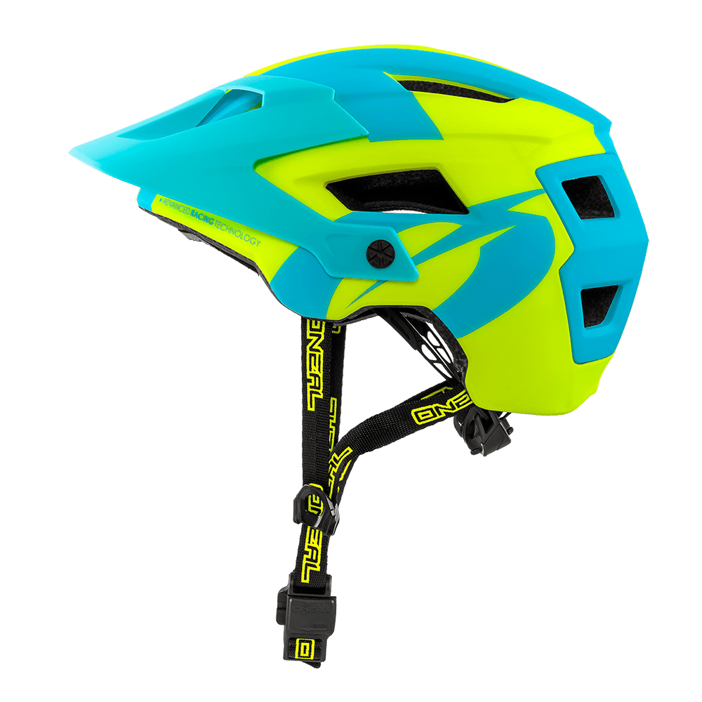 Casco MTB O'Neal DEFENDER 2.0 Sliver NEON YELLOW/BLUE