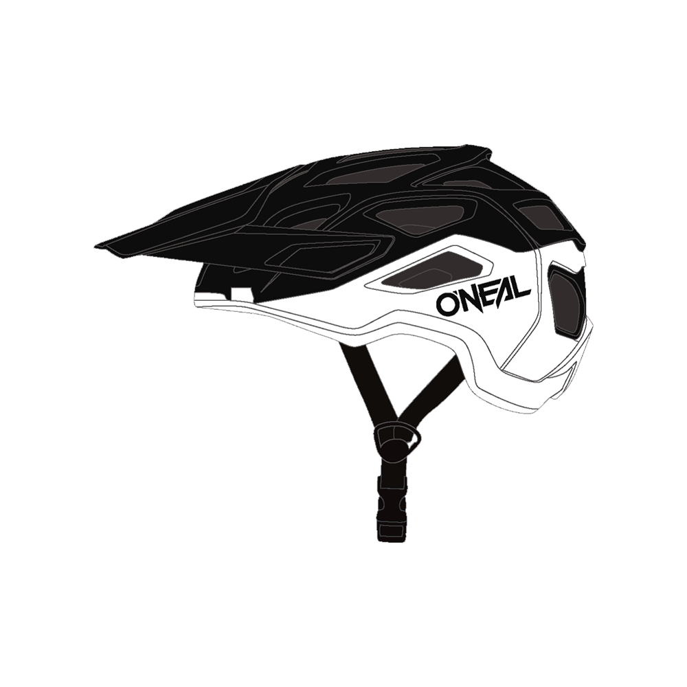 Casco MTB O'Neal PIKE 2.0 Solid BLACK/WHITE