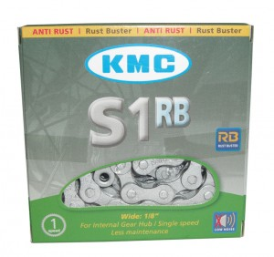 Catena KMC S-1RB antiruggine - 1/2 x 1/8, 112 maglie, 8,6 mm, argento