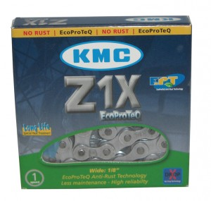 Catena KMC Z1X EPT EcoProteQ Antiruggine - 1/2 x 1/8, 112 anelli, 8,6mm, LongLife