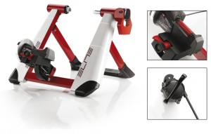 Cyclette Elite Novo Force - Trainer a magneti/fluido, bianco/rosso