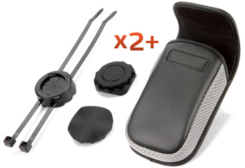 Double Bike Mount + Carry Case Pack -