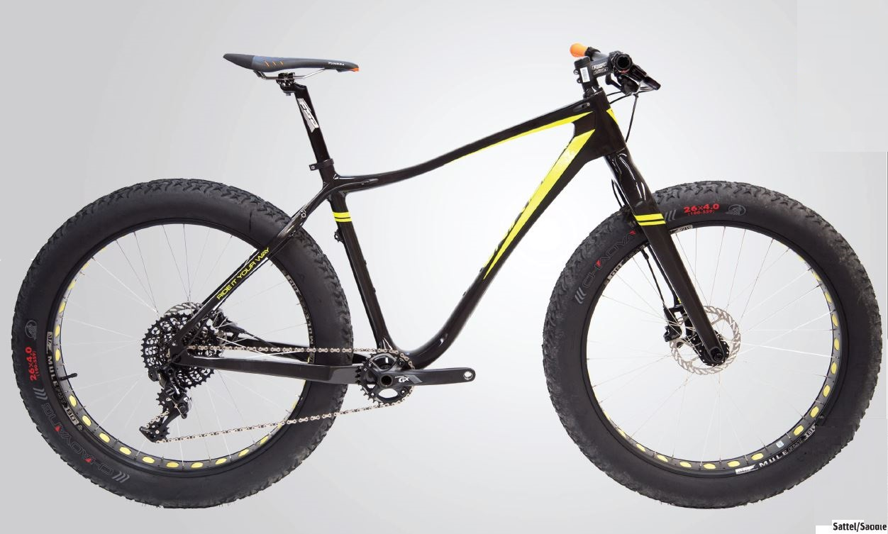 "UNIVEGA 26"" FAT BIKE BLACK/YELLOW"