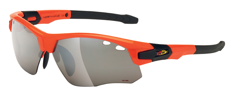 Occhiali ciclismo Northwave Galaxy con adattatore ottico  ORANGE-BLACK