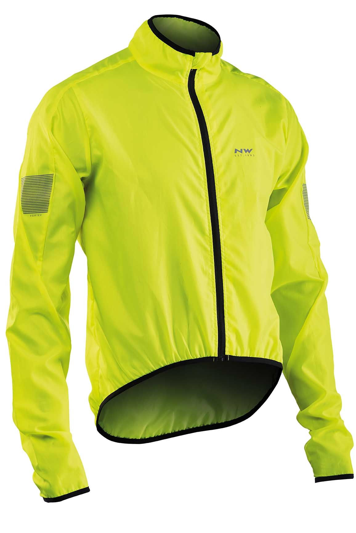 Giacca Antivento e Idrorepellente Ciclismo Northwave Vortex Jacket  YELLOW FLUO