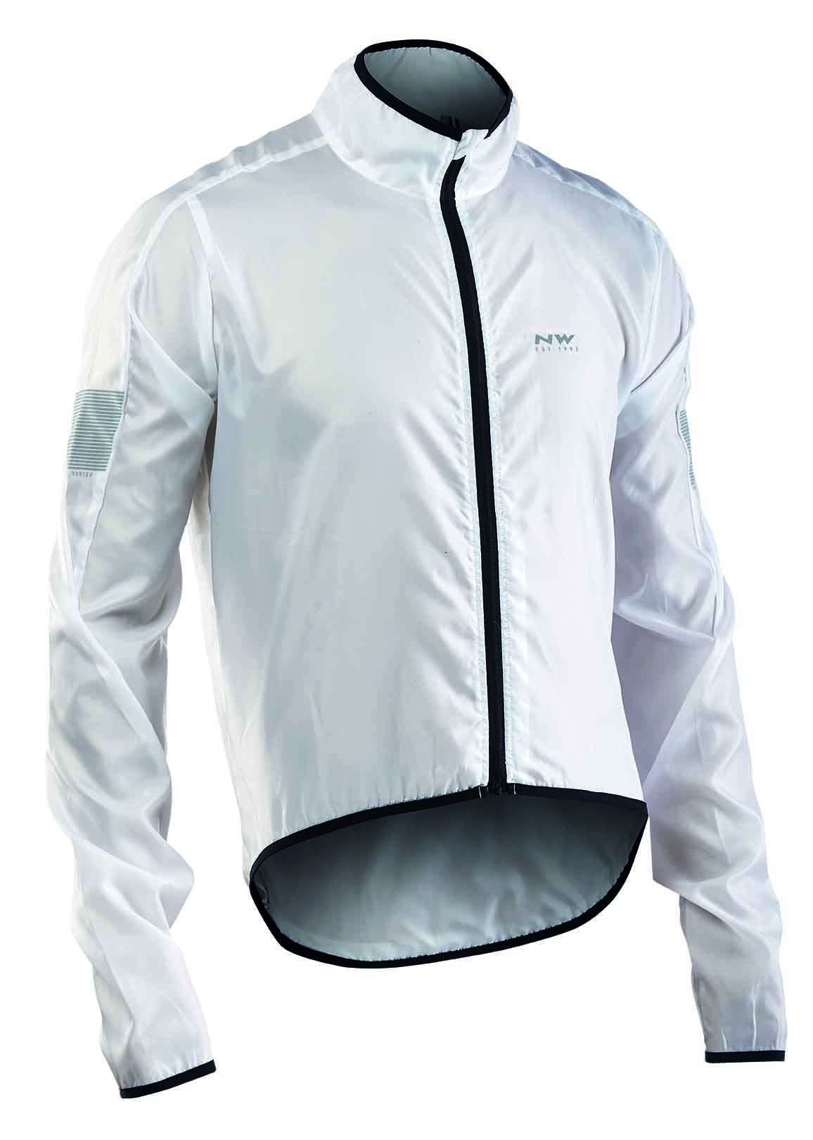 Giacca Antivento e Idrorepellente Ciclismo Northwave Vortex Jacket  WHITE