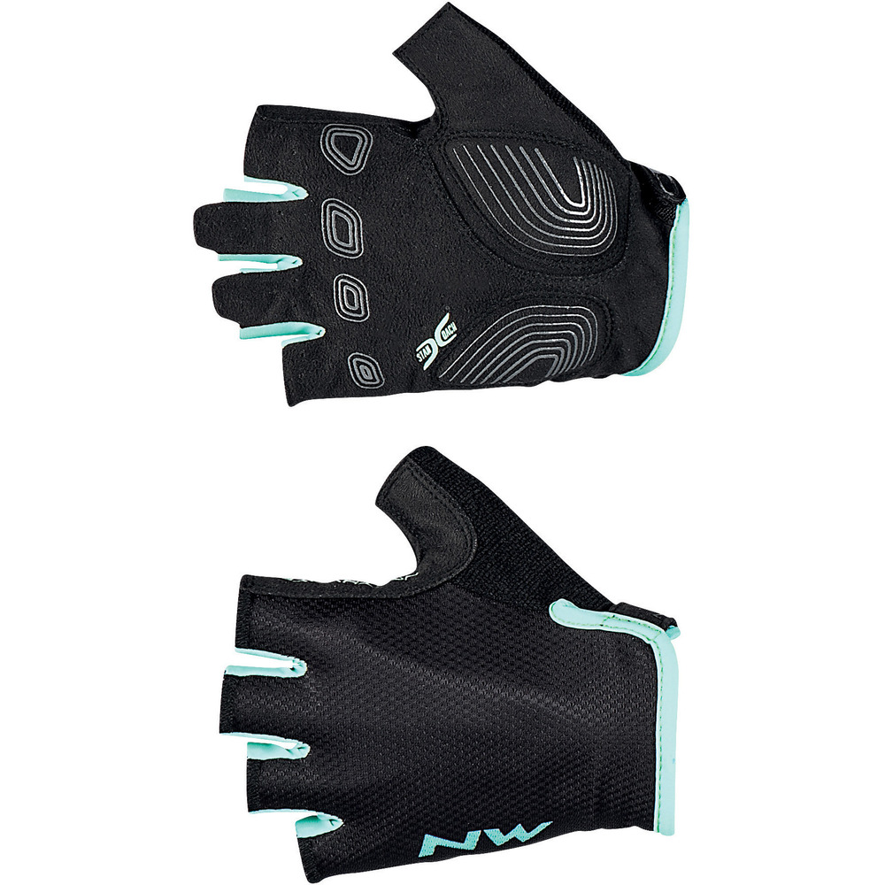 Guanti Donna Northwave Active Woman Short Fingers Glove BLACK-LIGHT BLUE