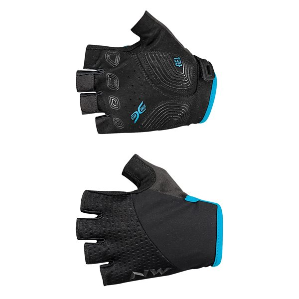 Guanti Donna Northwave Fast Woman Short Fingers Glove BLACK-LIGHT BLUE