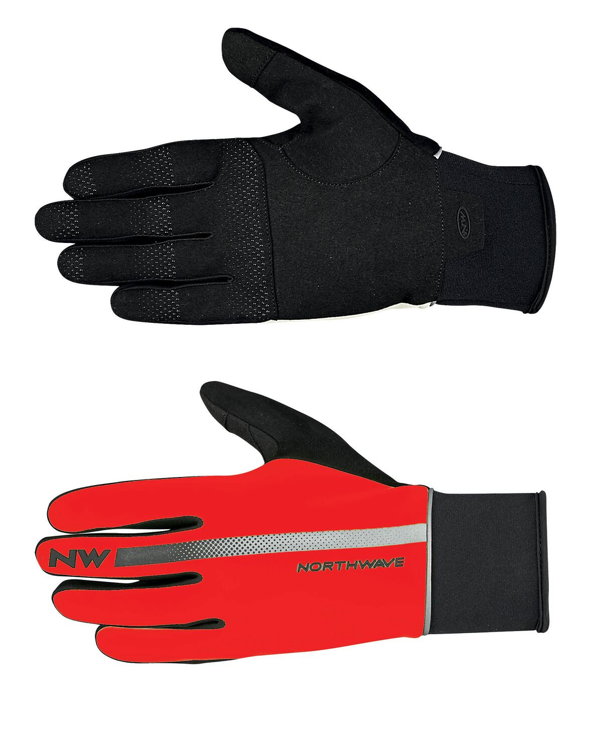 Guanti Ciclismo Northwave Dynamic Full Gloves RED-BLACK