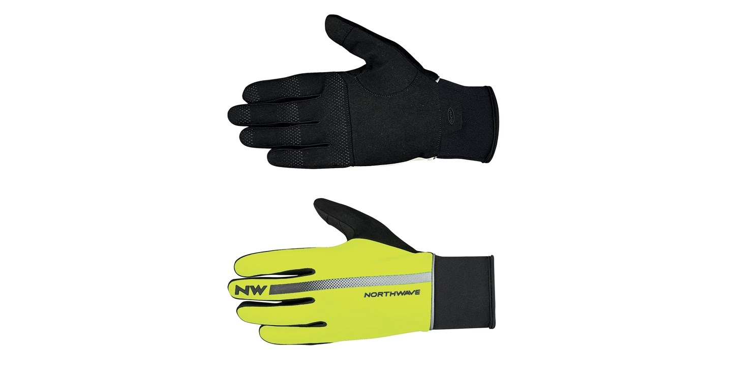 Guanti Ciclismo Northwave Dynamic Full Gloves YELLOW FLUO-BLACK