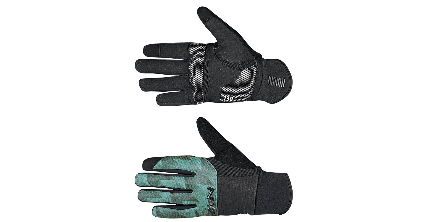 Guanti Ciclismo Northwave Power 3 Full Gloves Gel Pad BLACK-GREEN FOREST