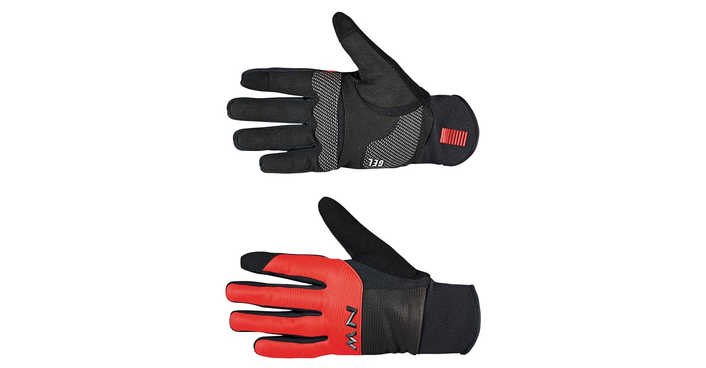 Guanti Ciclismo Northwave Power 3 Full Gloves Gel Pad BLACK-RED
