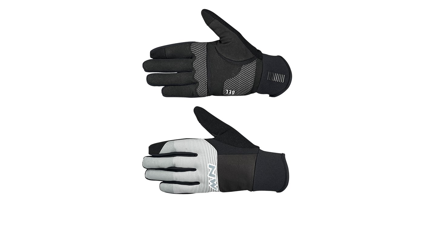 Guanti Ciclismo Northwave Power 3 Full Gloves Gel Pad REFLECTIVE