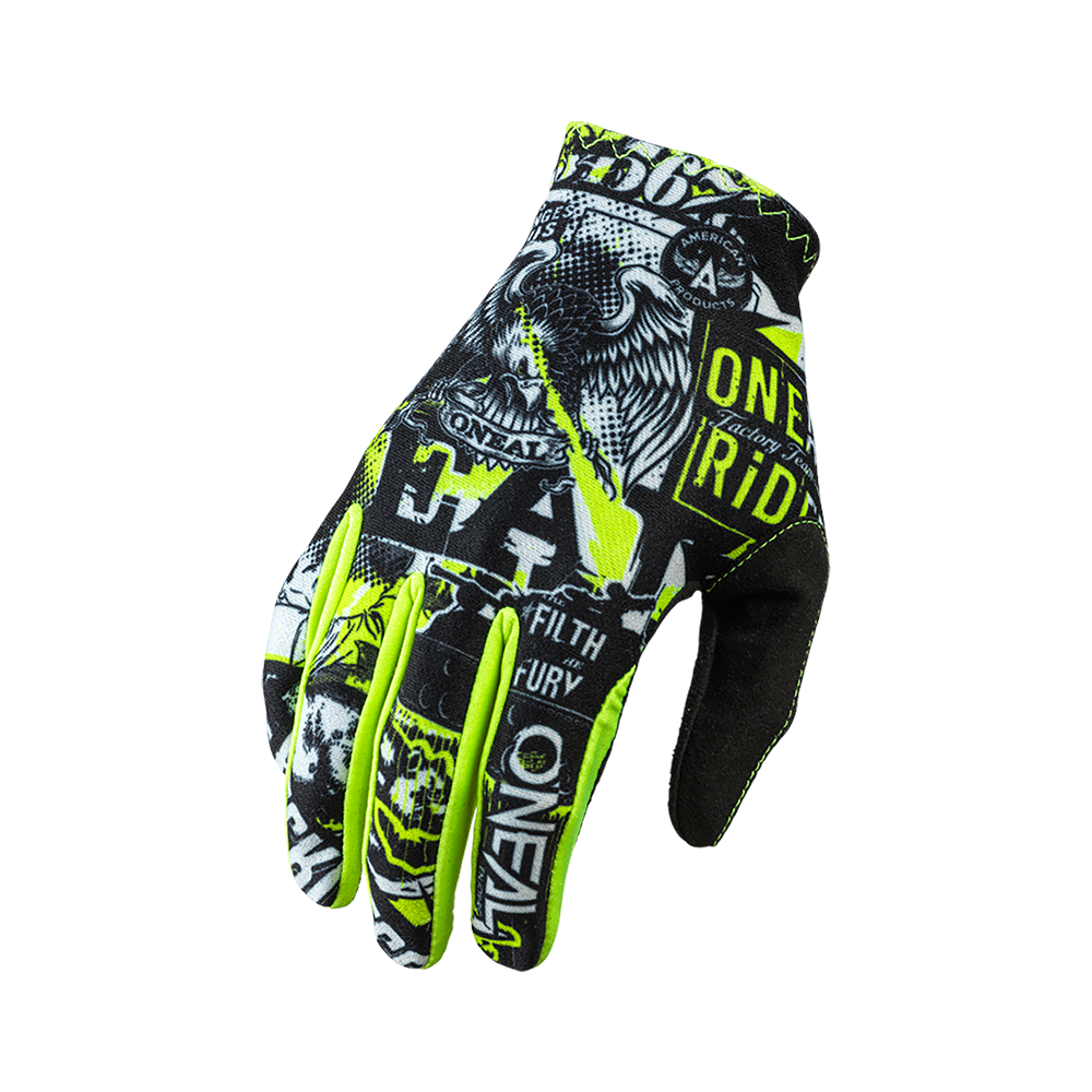 Guanti O'Neal MATRIX YOUTH Attack BLACK/NEON YELLOW