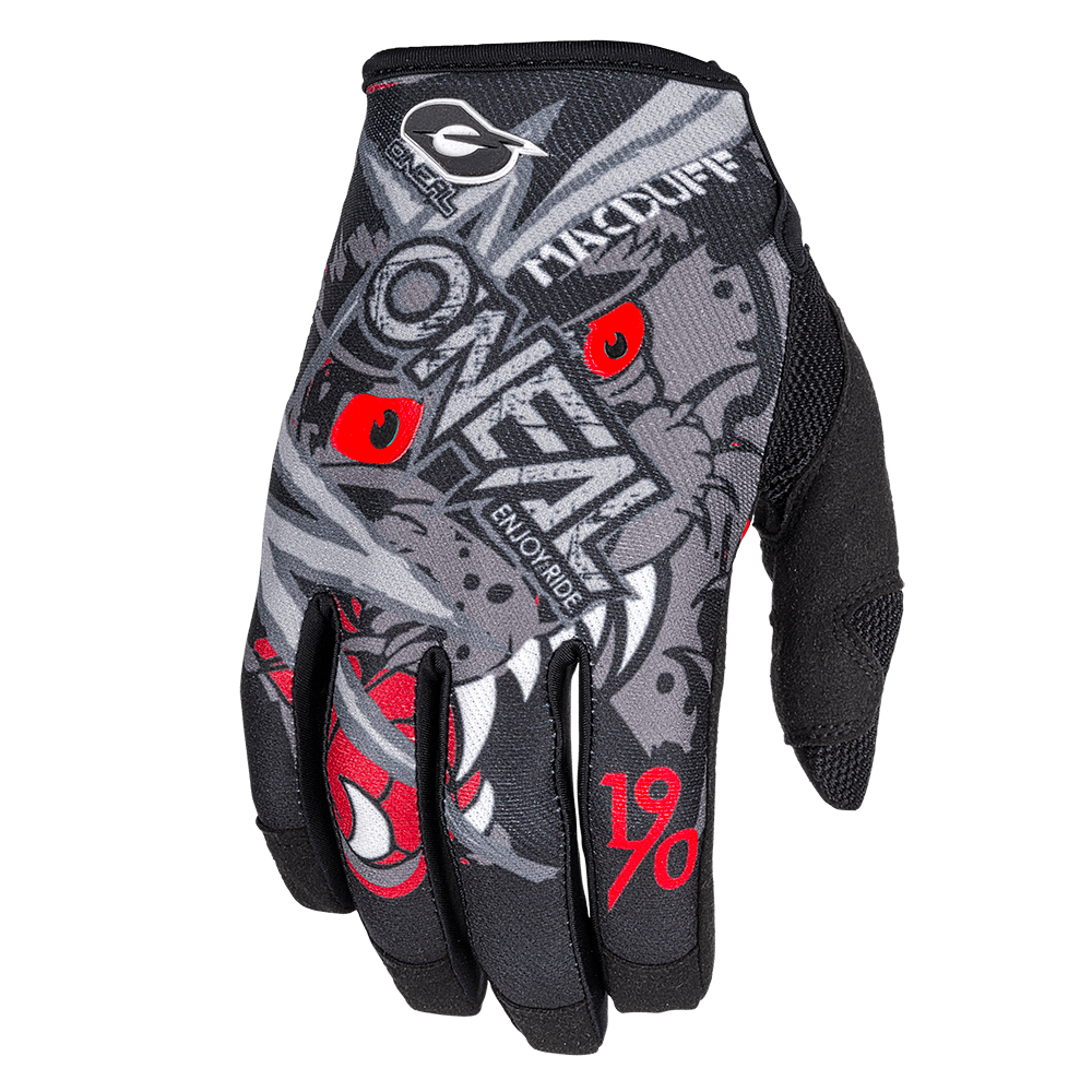 Guanti O'Neal MAYHEM Matt Macduff Signature GREY/RED