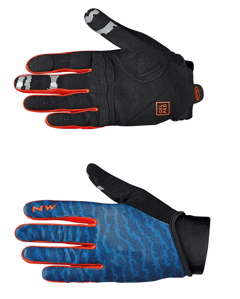 Guanti Ciclismo MTB Northwave Blaze 2 BLUE-LOBSTER ORANGE