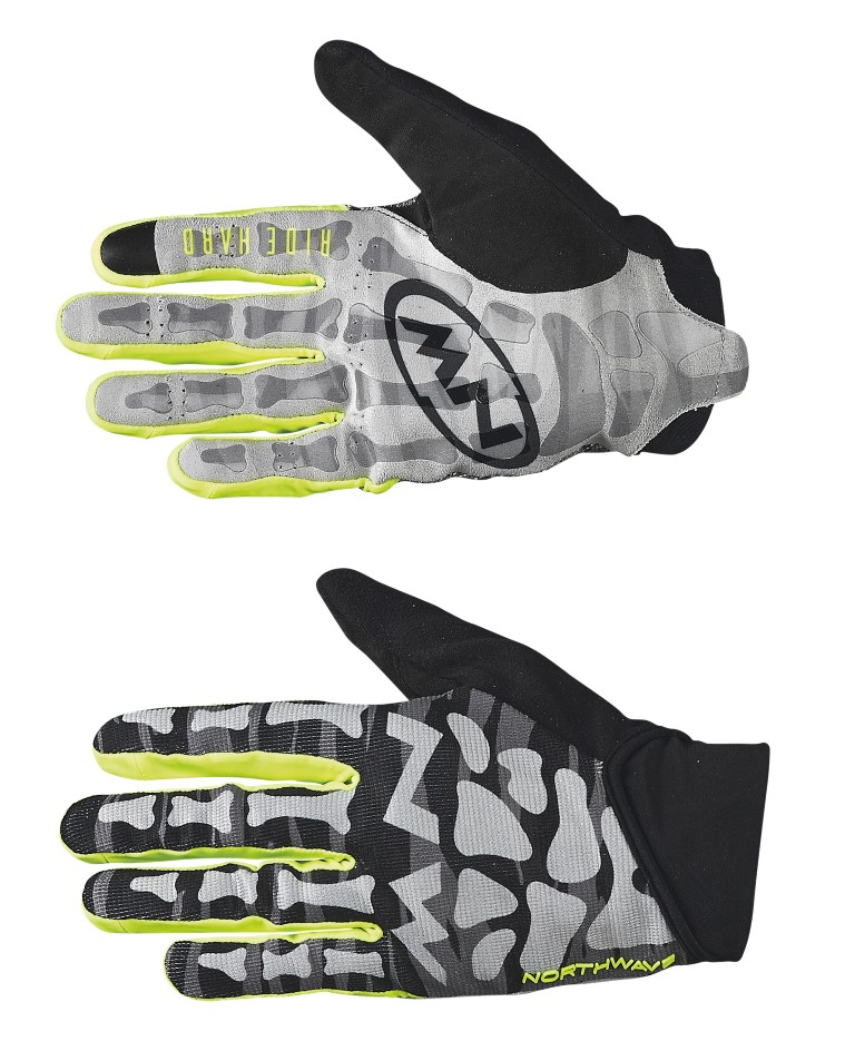 Guanti Ciclismo MTB Northwave Skeleton Original Full Gloves BLACK-YELLOW FLUO