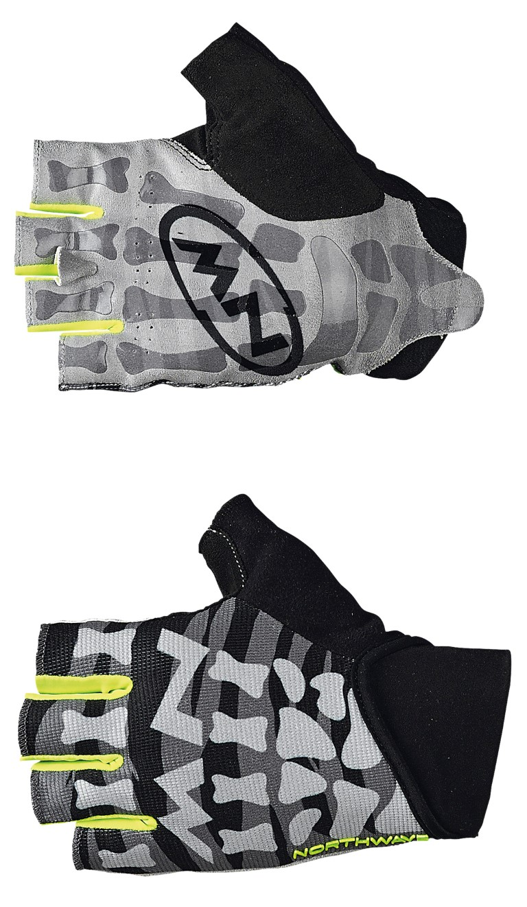 Guanti Ciclismo MTB Northwave Skeleton Original Short Gloves BLACK-YELLOW FLUO