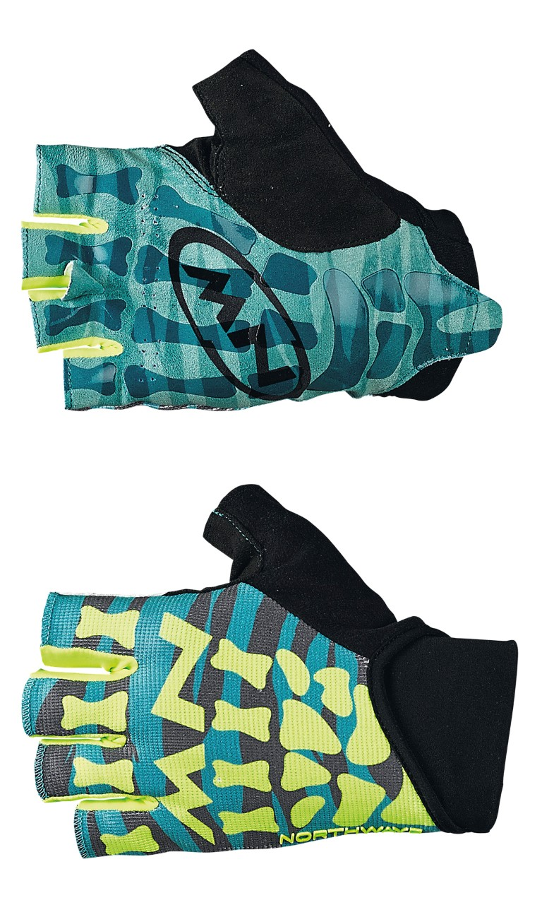 Guanti Ciclismo MTB Northwave Skeleton Original Short Gloves GREEN-YELLOW FLUO