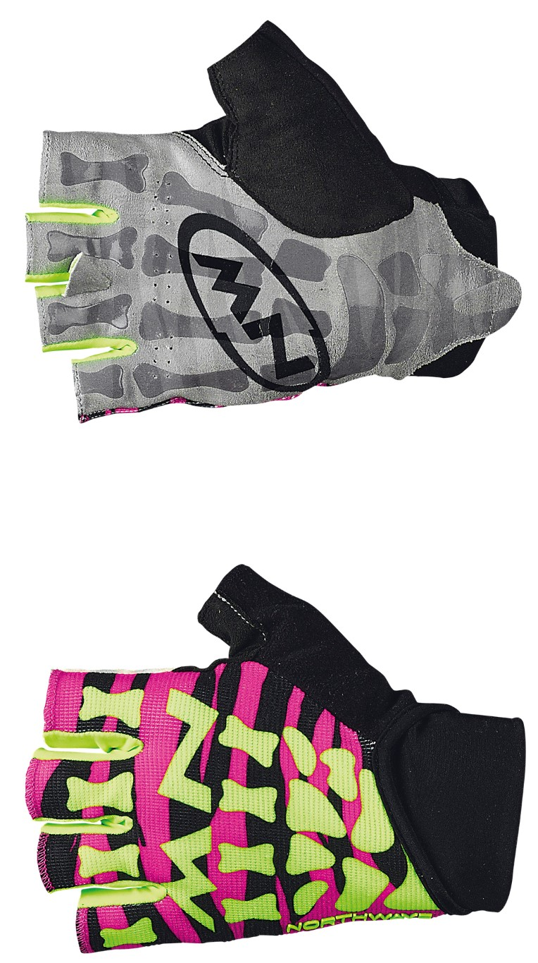 Guanti Ciclismo MTB Northwave Skeleton Original Short Gloves MAGENTA-YELLOW FLUO
