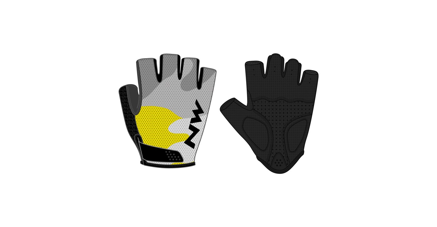 Guanti Ciclismo Northwave Flag 3 GREY-YELLOW FLUO