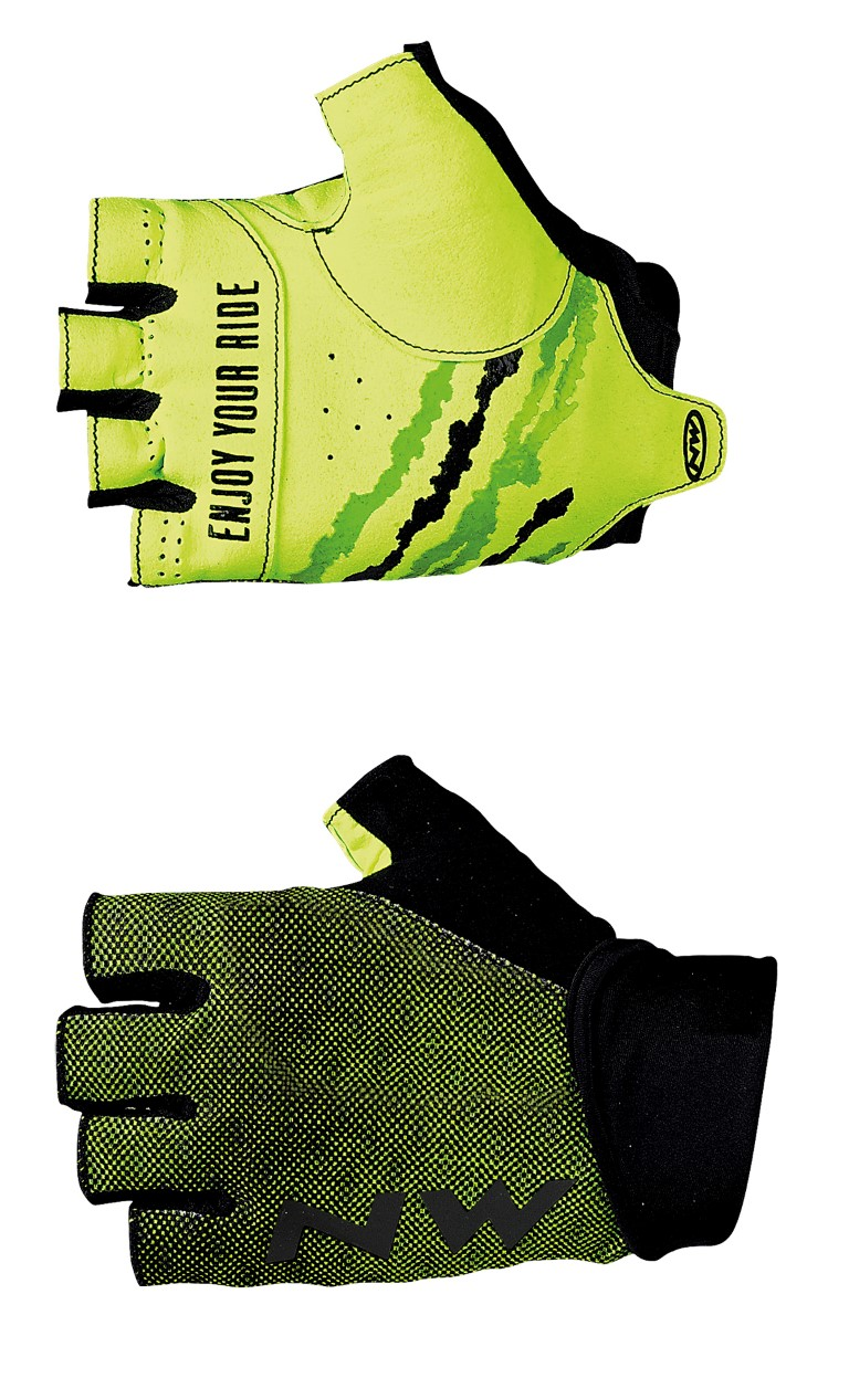 Guanti Ciclismo Northwave MTB Air 3 Short Gloves BLACK-YELLOW FLUO