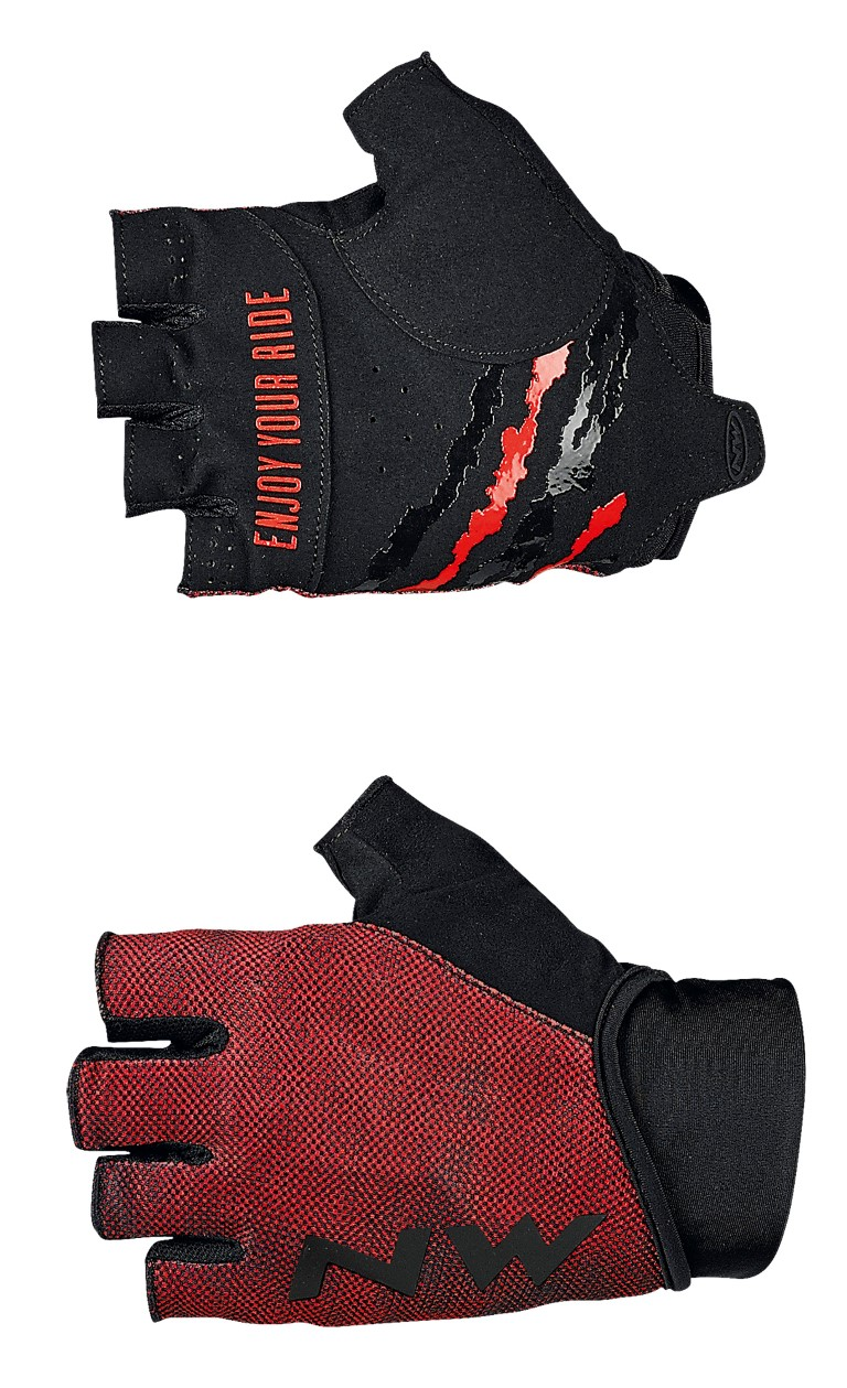 Guanti Ciclismo Northwave MTB Air 3 Short Gloves LOBSTER ORANGE-BLACK