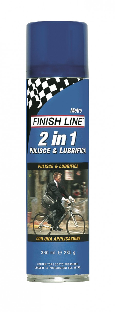 Lubrificante / Pulente Finish Line 2 in 1 Spray Aerosol 350 ml.