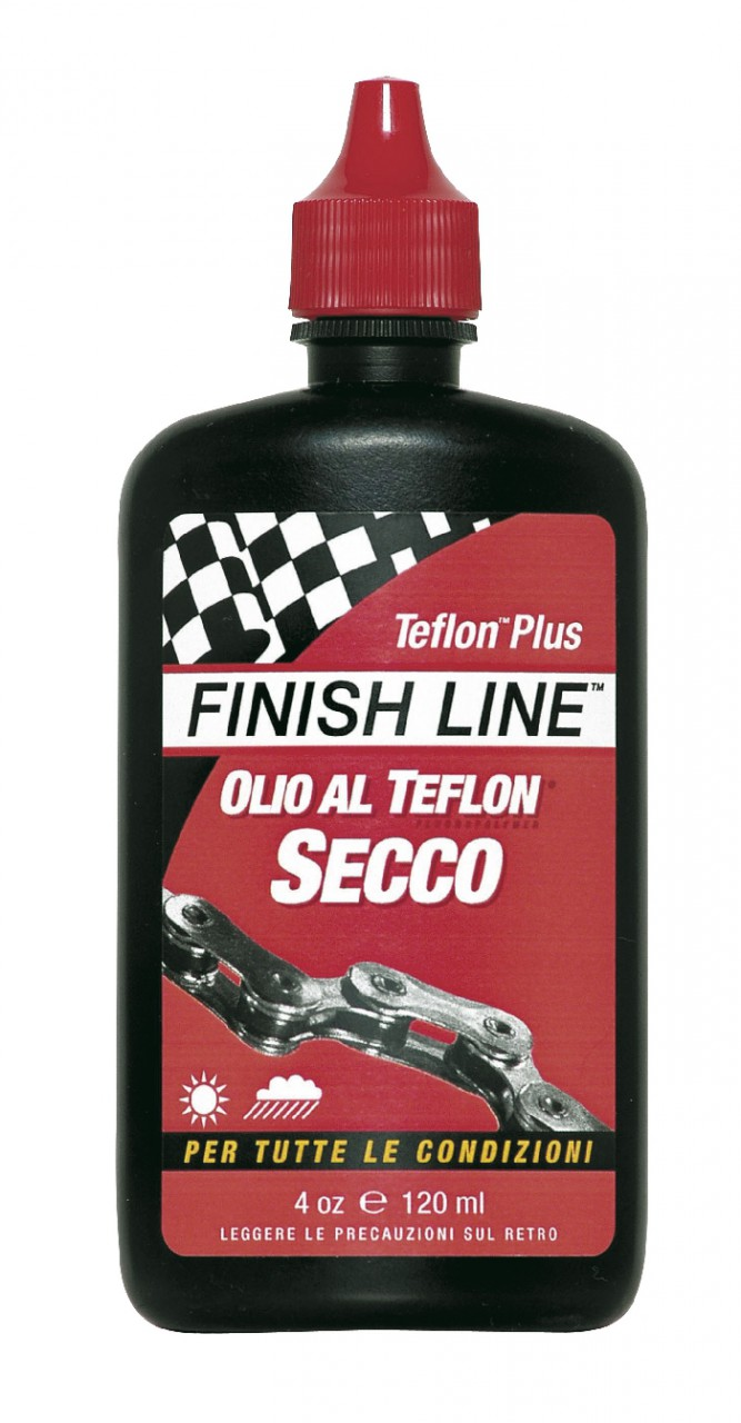 Lubrificante Secco a Goccia Professionale Teflon-Plus Dry FinishLine 120 ml.