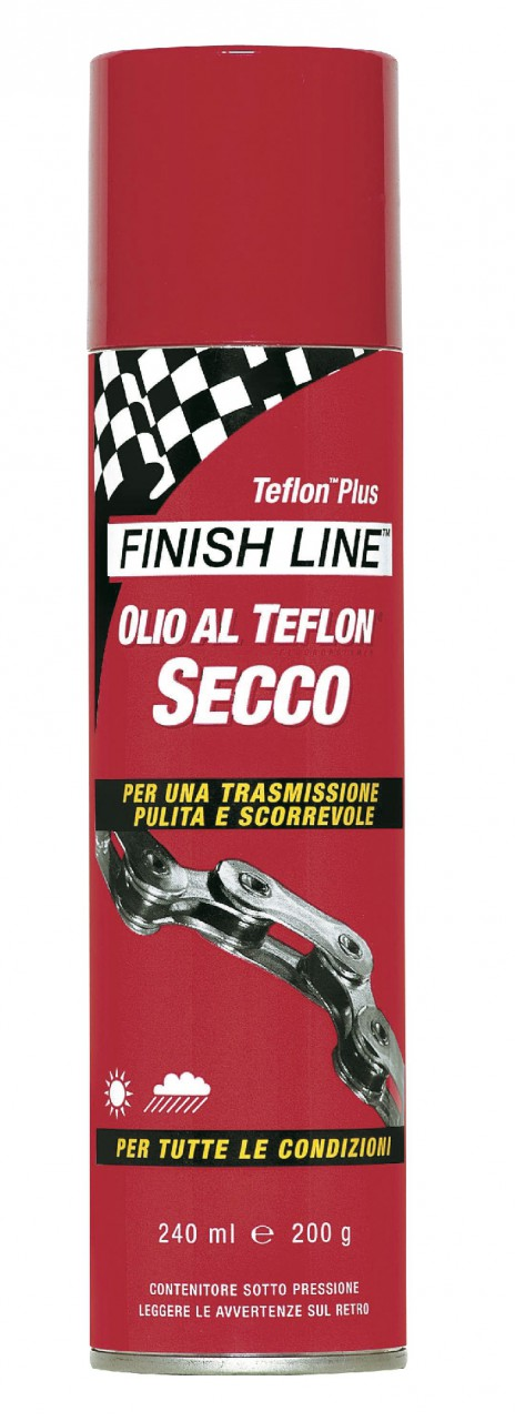 Lubrificante Secco Spray Professionale Teflon-Plus Dry FinishLine 240 ml.