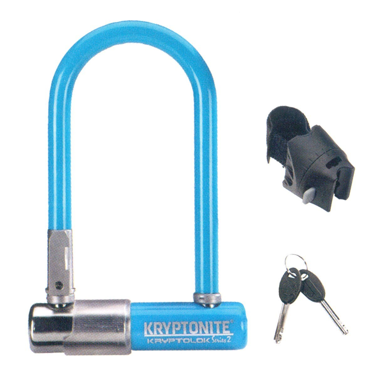 Lucchetto Kryptonite U-Lock Kryptolok Series 2 Mini-7 Colour Azzurro