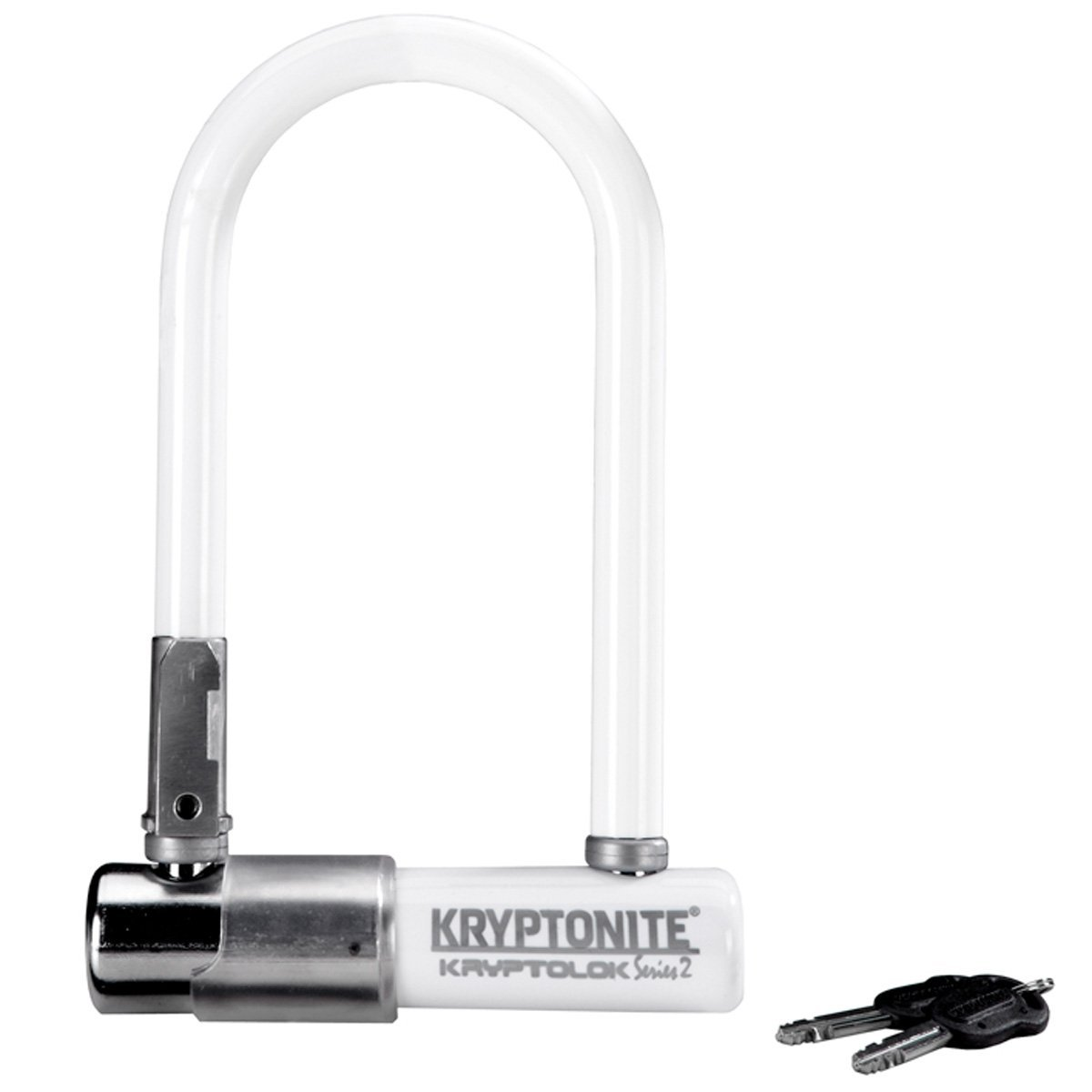 Lucchetto Kryptonite U-Lock Kryptolok Series 2 Mini-7 Colour Bianco Perlato