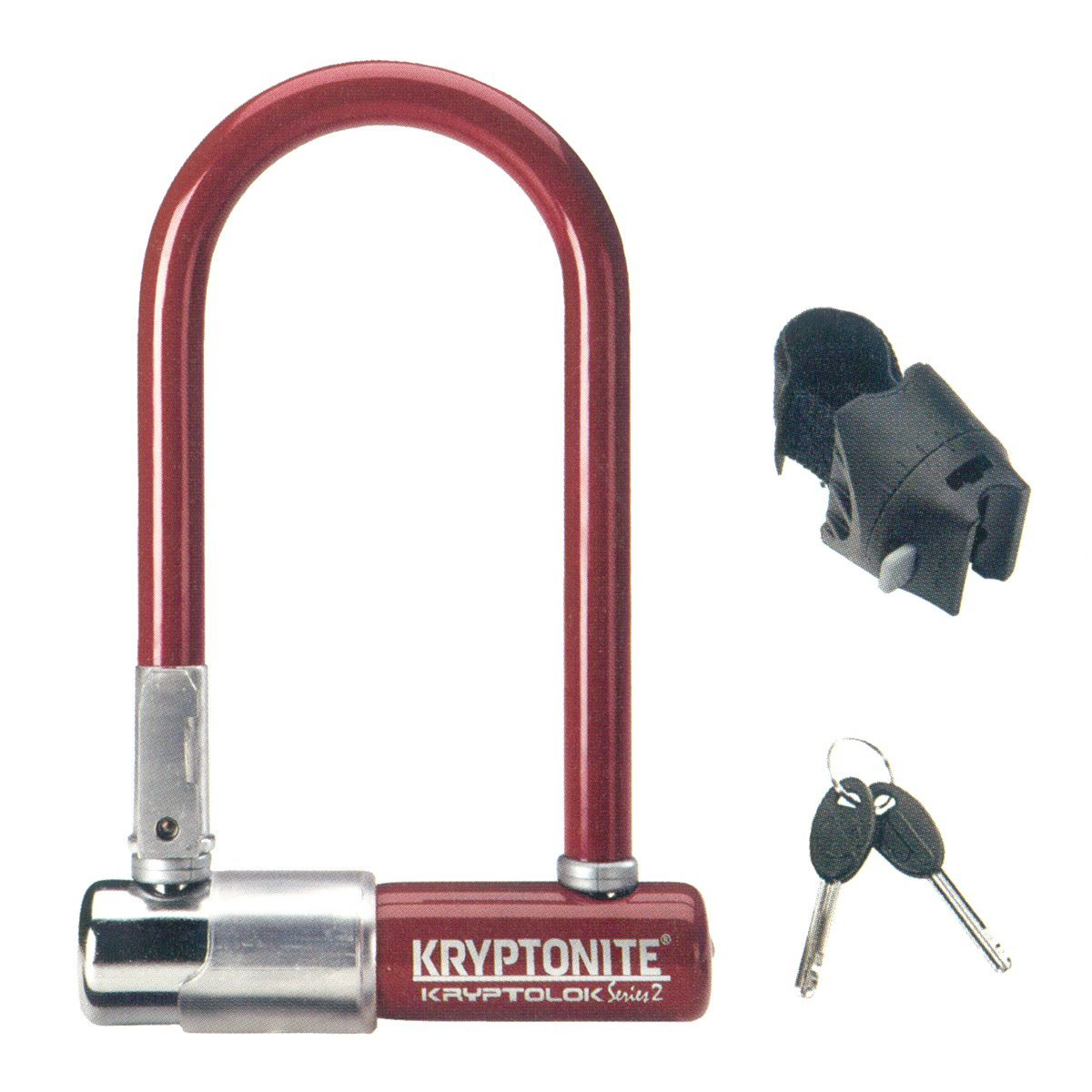 Lucchetto Kryptonite U-Lock Kryptolok Series 2 Mini-7 Colour Rosso Merlot