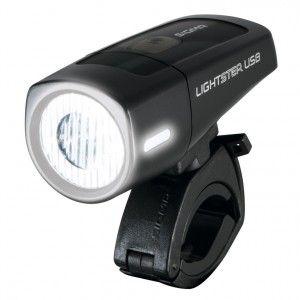 Luce ant. Batteria LED Lightster USB - SIGMA 25 Lux nero
