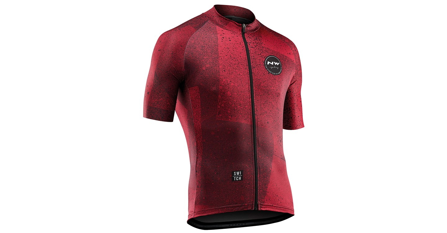 Maglia Ciclismo Maniche Corte Northwave Abstract Jersey Short Sleeves RUST RED