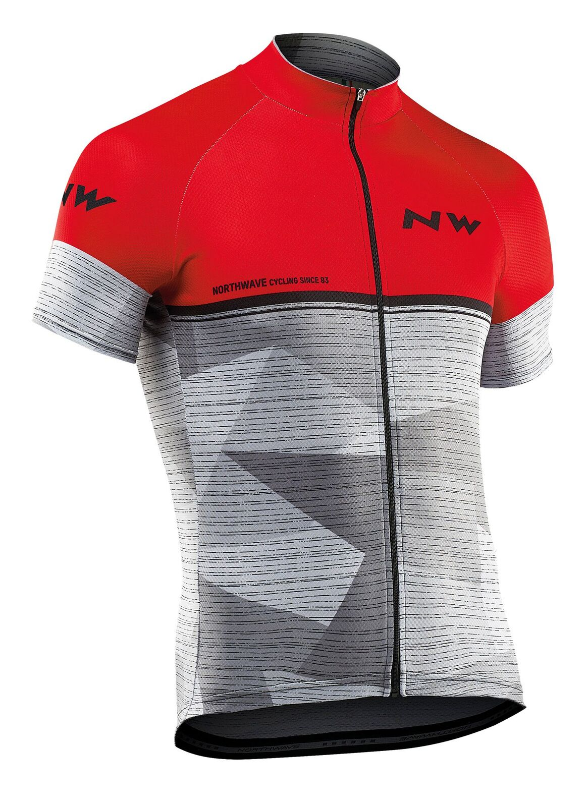 Maglia Ciclismo Maniche Corte Northwave Origin Jersey Short Sleeves RED-GREY