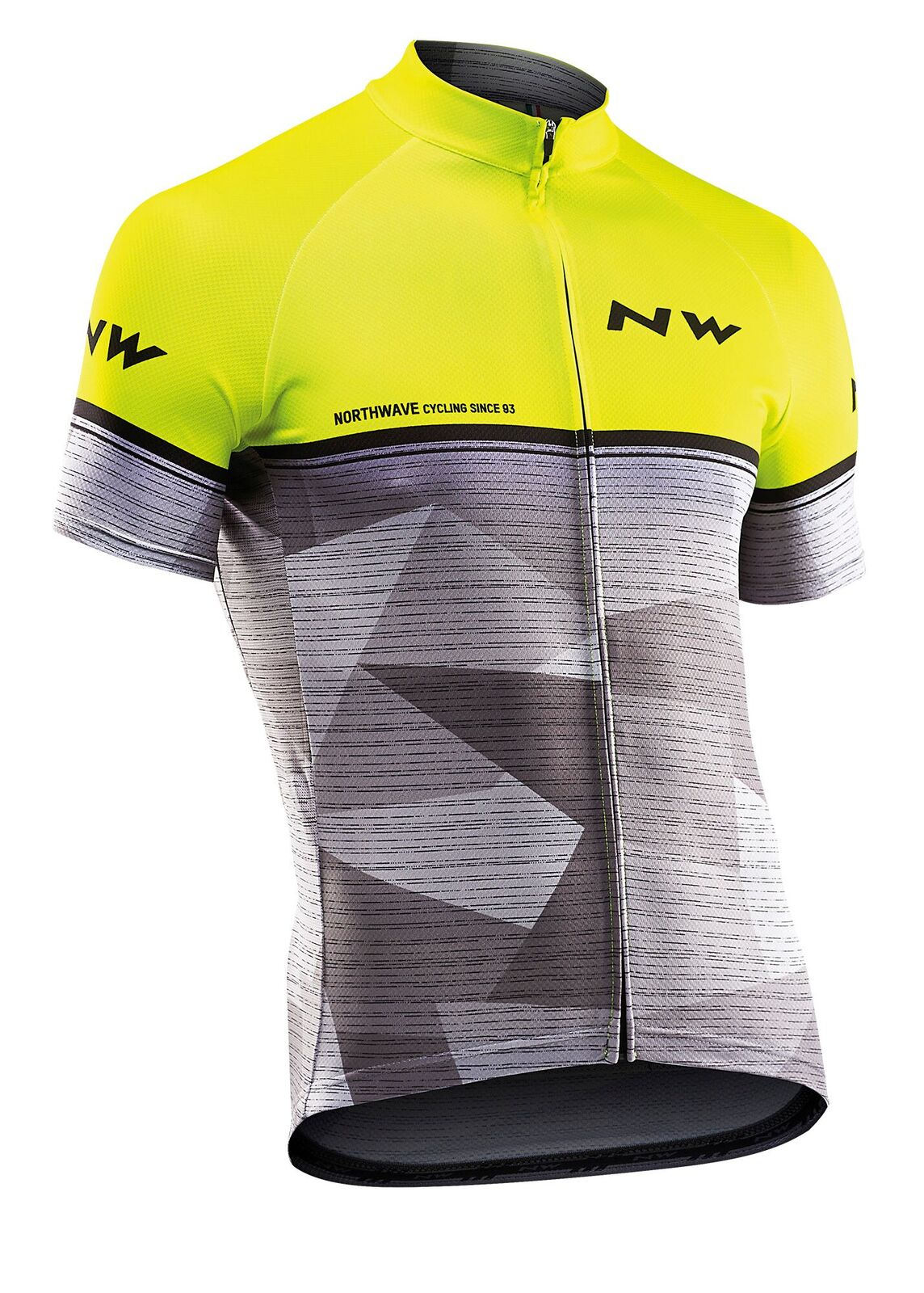 Maglia Ciclismo Maniche Corte Northwave Origin Jersey Short Sleeves YELLOW FLUO-GREY
