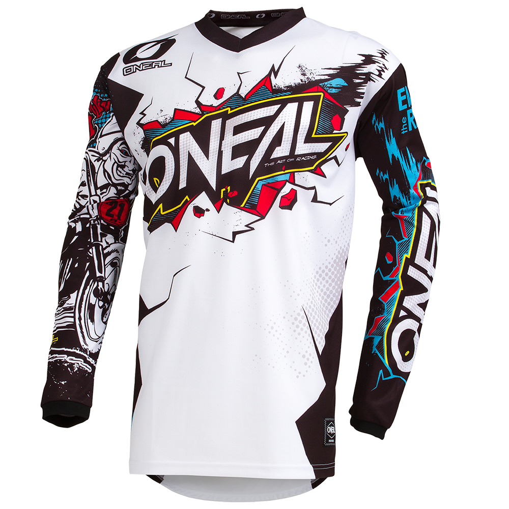 Maglia O'Neal maniche lunghe ELEMENT YOUTH Villain WHITE
