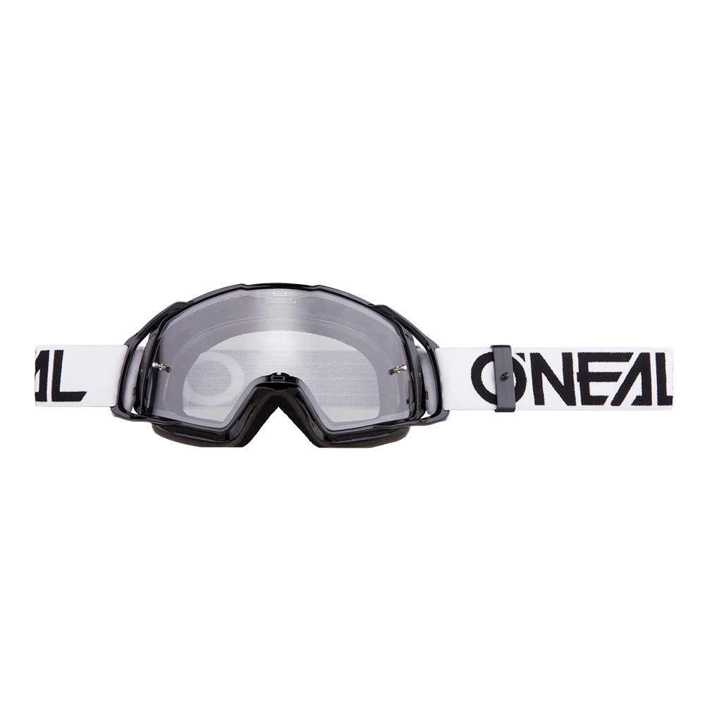 Maschera O'Neal B20 Flat Clear UNICA BLACK/WHITE